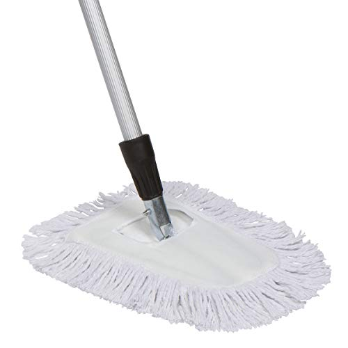 Tidy Tools 10 Inch Cotton Dust Mop with Extendable Handle and Metal Frame (60'' Extendable Metal Handle)