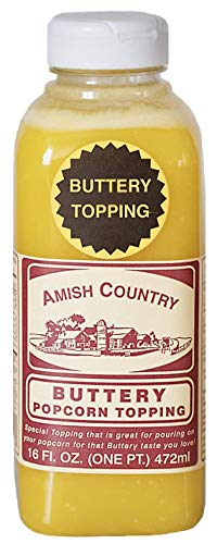 Amish Country Popcorn | Buttery Popcorn Topping | 16 oz Jar | Old Fashioned with Recipe Guide (16 oz Jar)