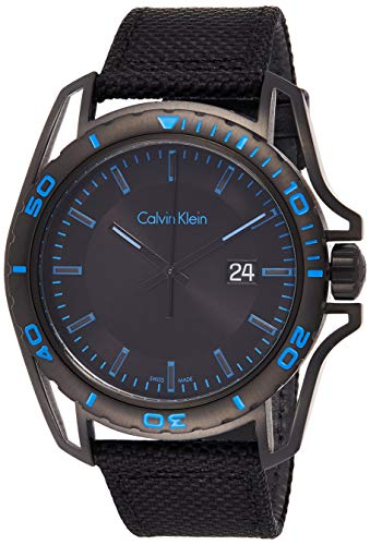 Calvin Klein Reloj Analógico para Hombre de Cuarzo con Correa en Tela K5Y31YB1