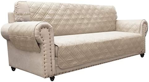 Ameritex Sofa Cover with Anti Skip Dog Paw Print 100 Water Resistant Quilted Furniture Protector product image