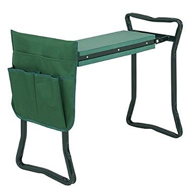 BBBuy Folding Garden Kneeling Bench Stool Gardener Kneeler Seat with Bonus Tool Pouches