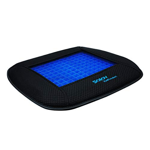Sojoy iGelComfort Coccyx Orthopedic Breathable Support Gel Luxury Non-Slip Seat Cushion (Black) (18x17x2)