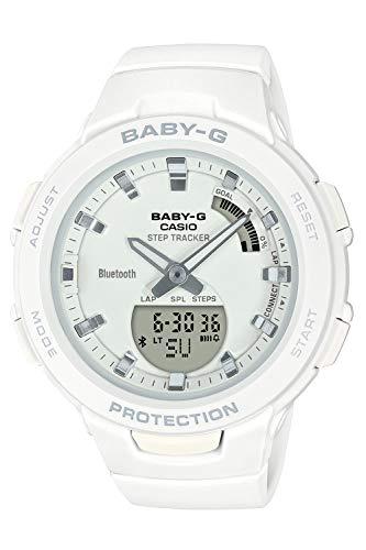 [カシオ] 腕時計 ベビージー FOR SPORTS 歩数計測 Bluetooth 搭載 BSA-B100-7AJF レディース ホワイト