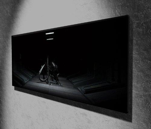 Kunstdruck auf Leinwand, Motiv: Alien auf der Jagd, Horror-Film, Panorama, 127 x 50,8 cm