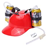 SMOQIO Beer Hat, Beer Helmet for Drinking Soda, Funny Drinking Accessories Gifts for Adults