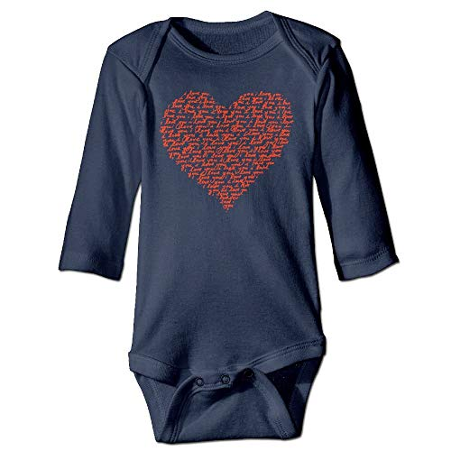 FULIYA Body de manga larga para bebé, unisex, para bebé, para el día de San Valentín, color azul marino