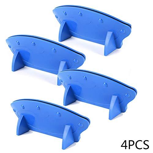 1/2/4pcs soporte de juego de tarjetas Soporte de cartas elegante, diseño curvado, acabado en madera natural , artefact de naipe, azul, 4PCS