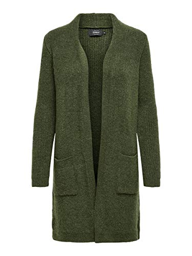 ONLY Female Strickjacke Long MKhaki 2