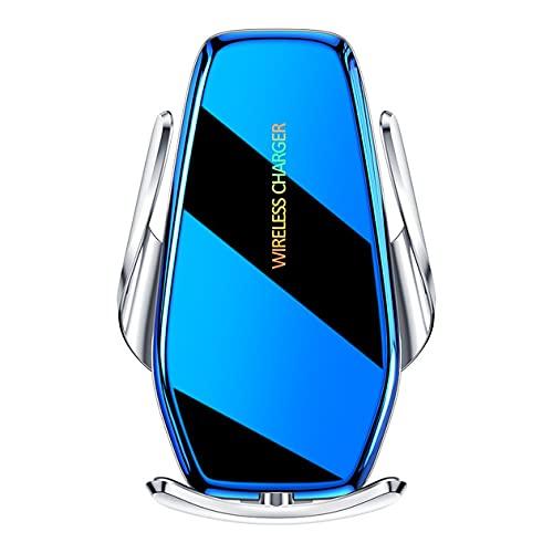abbybubble Soporte Soporte para teléfono móvil para automóvil Cargador de automóvil de Alta Potencia de 15 W Soporte de navegación para automóvil de inducción Totalmente automático