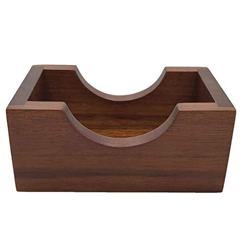 """Natural Wooden coasters holder ,Minimalist Holder-for Square or Round Coaster, Coaster Holder Stand with Paded Base, Hold Four Coasters of upto 4"""" in size"""