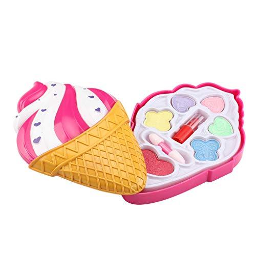 Windy5 Eiscreme-Form-Puder-Kasten-Kind-Mädchen DIY Lippenstift Kosmetik Set Waschbar Makeup...