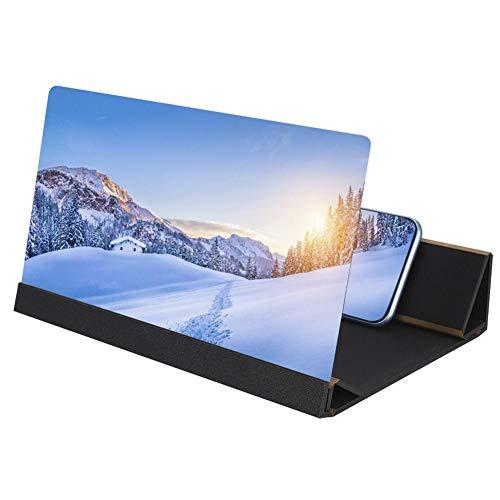 Amplificatore dello schermo del telefono cellulare, lente acrilica pieghevole HD portatile 3D HD Smart Phone Amplificatore dello schermo Proiettore Ingranditore video film con pratico supporto
