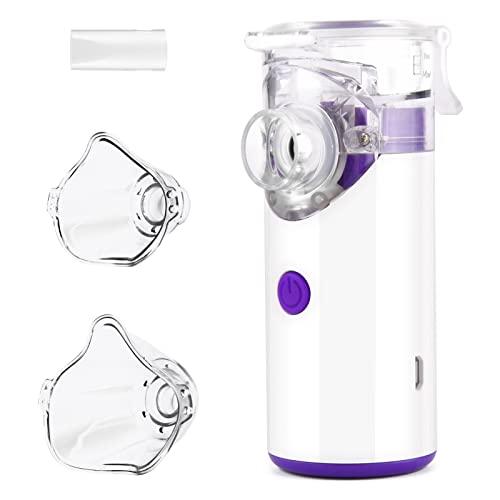 Nlyefa Inhalationsgerät tragbar Vernebler Set,Inhalator Vernebler mit Mundstück und Maske für Kinder und Erwachsene, wirksam bei Atemwegserkrankungen, Mehrwegnhalator