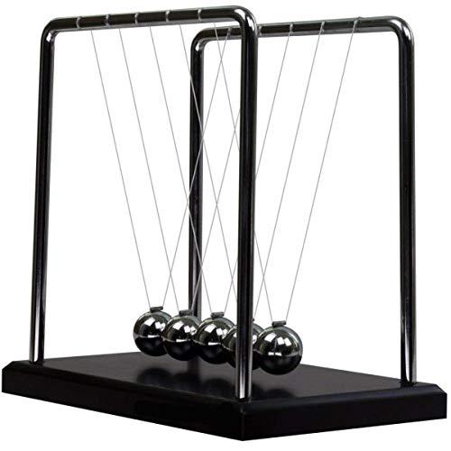 Adkwse Newton Kugelstoßpendel Kugelspiel mit Sockel 18cm