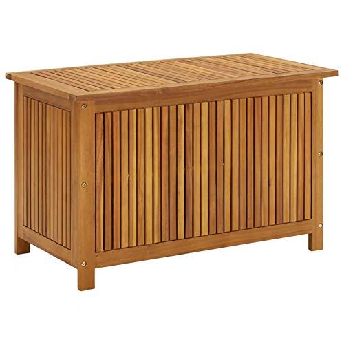 Tidyard Garten-Aufbewahrungsbox Auflagenbox Gartentruhe Kissenbox Gartenbox Kissentruhe Gartentruhe 90x50x106 cm Massivholz Akazie