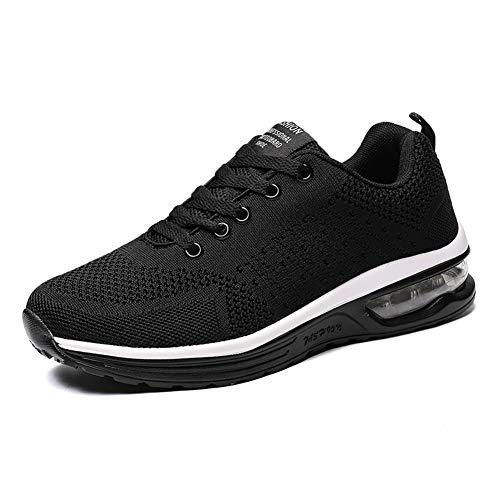 [UMENGX] スニーカー メンズ レディース ランニングシューズ ジョギングシューズ 軽量 通学 通勤 普段履き 運動靴 大きいサイズ 男女兼用 履きやすい 黒 クッション性 厚底