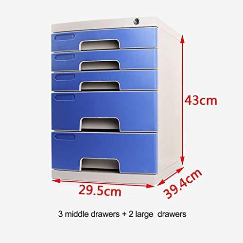 Bestandskast Verschillende specificaties Interieur Structuur Fluwelen Stoffen Printer Papieren Ruwe Pulp Hout Smart Design Pp Plastic(29.5X39.4X43CM) Opbergdoos 3 middle drawers+2 large drawers