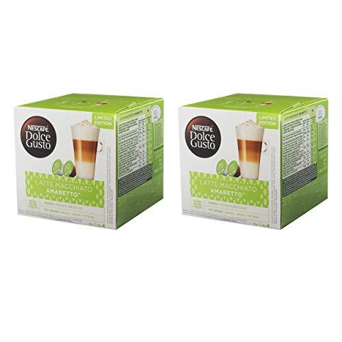 Nescafé Dolce Gusto Latte Macchiato Amaretto 2er Set, Kaffeekapsel, Kaffee, 2 x 16 Kapseln (16 Portionen)