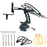 Hunting Fishing Slingshots Kits Archery Arrows Slingshot Powerful Catapult Sling Shot Wrist High Velocity Sling Bow with Arrows Brush Fishing Reel Flashlight Bracket 4 Bands, 5 Fishing Broadheads