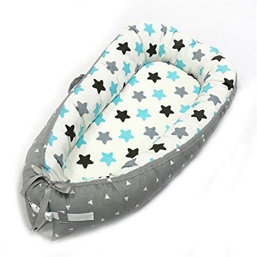Baby Lounger Portable Super Soft&Removable Baby Nest Bed Sleeper Soft Cotton Crib Breathable Bassinet Travel Cot (TA-38)