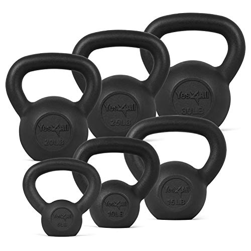Yes4All Combo Cast Iron Kettlebell Weight Sets –...