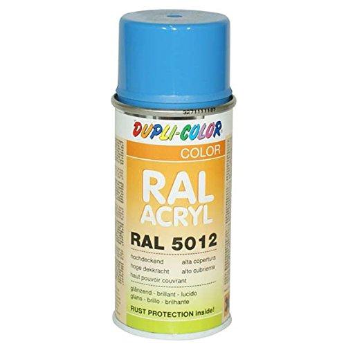 Dupli-Color 626746 RAL-Acryl-Spray, RAL 5012, 150 ml, Lichtblau Glanz