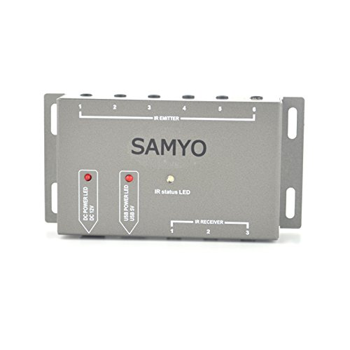 Samyo Infrared Remote Control Repeater IR Extender Hidden Control System Kit Operate 1 to 6 Devices