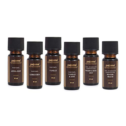 Pajoma Golden Line Duftöl Set Made in Germany Raumduft für Duftlampe Aromatherapie oder Diffuser (Weihnachten 2)