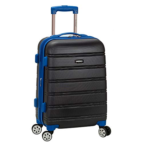 Rockland Melbourne Hardside Expandable Spinner Wheel Luggage, Grey, Carry-On 20-Inch