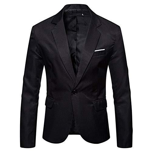 YOUTHUP Anzugjacke Herren Slim fit einfarbig Sakko für Hochzeit Party Abschluss Business