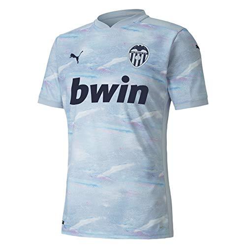 PUMA Valencia CF Temporada 2020/21-3rd Shirt Replica Heather-Peacoat Camiseta Tercera Equipación Unisex Adulto