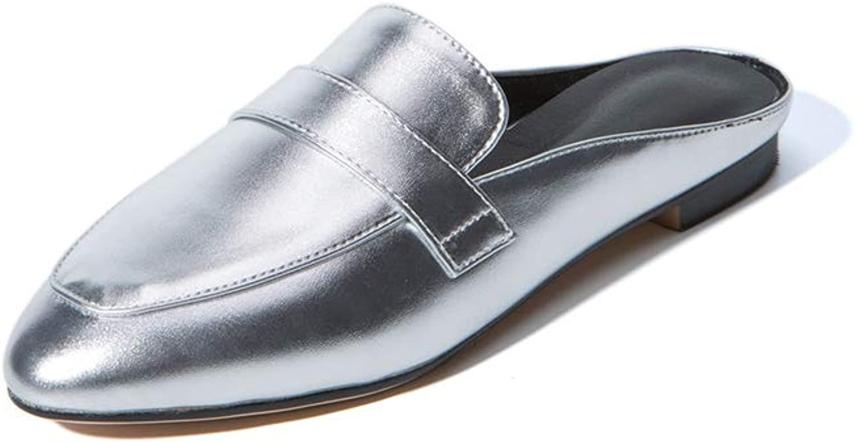 Brilliant sun Women's Classic Loafer Flats shoes Backless Slipper Slip On Mule