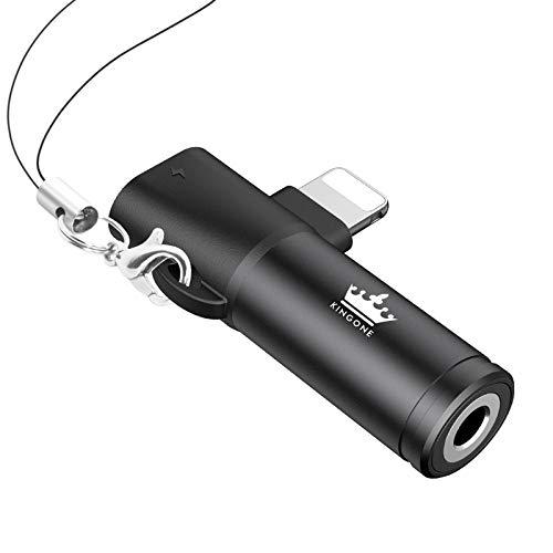 KINGONE Light-ning Klinke Adapter für iPhone 3,5mm Kopfhörer Adapter iPhone X Kopfhörer Aux Jack Kompatibel mit iPhone 11/11 Pro/ 11 Pro Max/XR/XS/XS Max/ 7/ /8/6/ 8 Plus/ 7 Plus