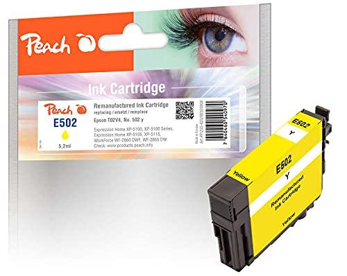 Peach Cartucho de Tinta Amarillo Compatible con Epson No. 502Y, C13T02V44010