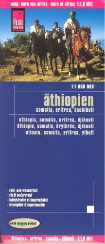 Corne de l'Afrique: Ethiopie - Erythrée - Somalie - Carte Djibouti voyage 1:1,800,000, imperméable à l'eau, compatible avec le GPS, REISE