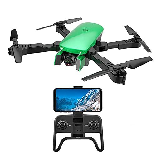 GZTYLQQ Drone GPS 4K con videocamera FPV Live Video per Adulti, Quadricottero Portatile per Selfie con Custodia, modalità Senza Testa, Un Tasto Start Green