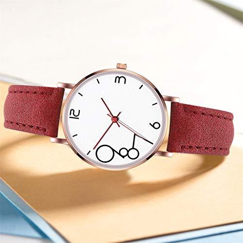 Uhr Armbanduhren Männer Damenuhren Hansee Modifizierbares Temperament Weiblicher Mesh Ledergürtel Armbanduhr Mit Quarz Analog Runde Uhren Wrist Watches(C)