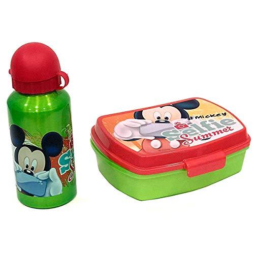 Mickey MouseWD17163 –Set Disney Borraccia Più Portapranzo, Bambino, Multicolore