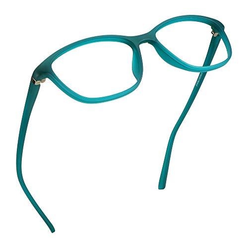 LifeArt Blu-ray-Brillen, Lesebrille für Computer, transparente Linse, Kopfschmerzen reduzieren & trockene Augen verhindern, Mode für Männer/Frauen +3.75