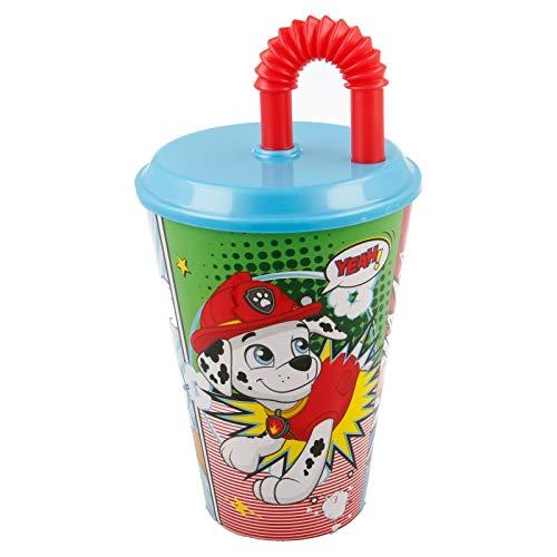 ILS I LOVE SHOPPING Bicchiere Sport con Cannuccia 430 ml per Bambini in plastica (Paw Patrol Bambino)