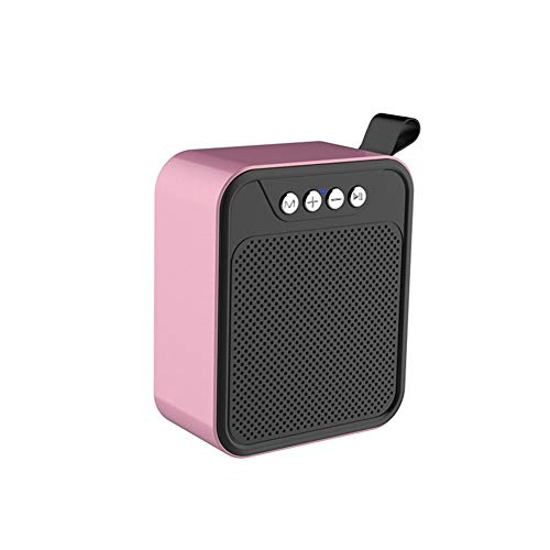 CHYSP Bluetooth drahtlose Lautsprecher tragbares Metall Bluetooth Lautsprecher im Freien Mini Subwoofer Wireless-Geschenk Customization (Color : B)