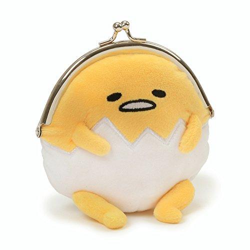 GUND Sanrio Gudetama The Lazy Egg Coin Purse Plush, Multicolor, 5'