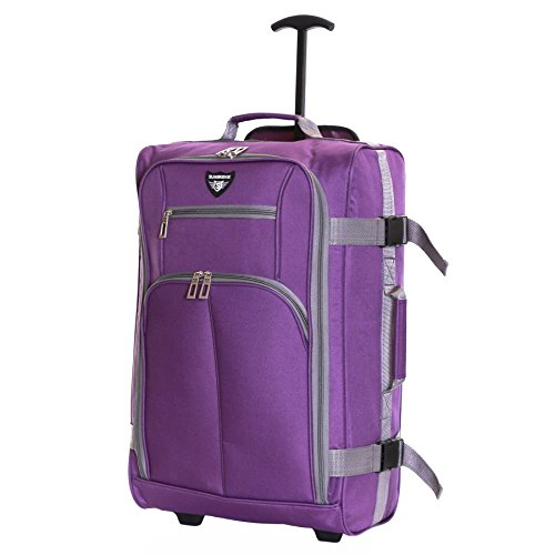 Slimbridge Cabin Carry-on Hand Luggage Suitcase Bag Ultra Lightweight 55 cm 1.5 kg 38.5 litres 2 Wheels, Lobos Purple