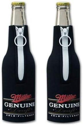 Miller Genuine Draft MGD Beer Bottle Suit Holder Cooler Kaddy Huggie Coolie Set of 2 product image