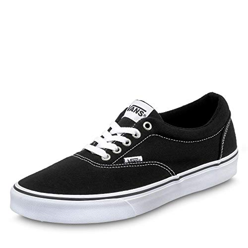 Vans Herren Doheny Sneaker, Schwarz ((Canvas) Black/White 187), 42.5 EU