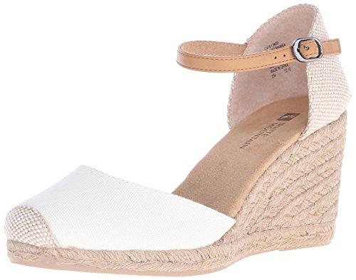 WHITE MOUNTAIN Shoes Mamba Women's Espadrille Wedge, Natural/Fabric, 9 M