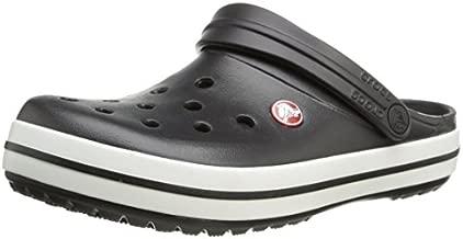 Crocs unisex-adult Crocband Clog | Comfortable Slip On Casual Water Shoe Black Men's 10, Women's 12 Medium