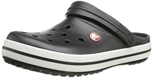 crocs Unisex-Erwachsene Crocband U Clogs, Schwarz (Black/White), 48/49 EU