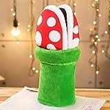 QIANHUA Super Mario Bros Zapatillas Piraña Decoración Flor Cosplay Zapatos Otoño Invierno Zapatillas de Felpa Venta al por Mayor, Verde, 5