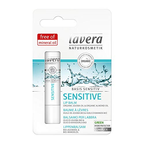 Lavera Organic and Natural Moisturizing Lip Balm, Long Lasting Care, keeps Lips From Drying Out (4.5 g)